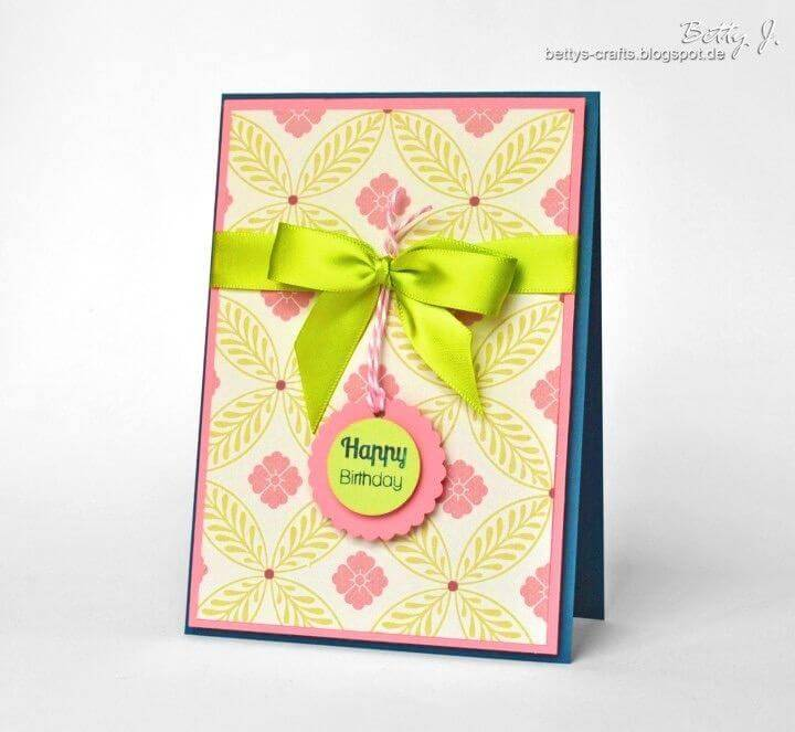 How to DIY Happy Birthday Card, easy to make birthday card
