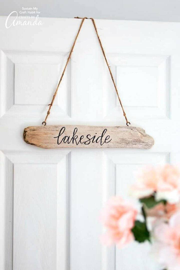 How to Make Driftwood Signs, write also custom words on the driftwood pieces and then hang them on the wall as rustic quoted wall signs!
