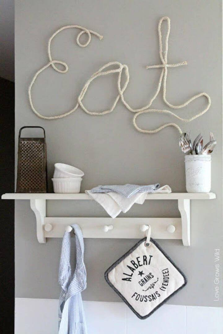 How to Make Rope Letters, use only rope to make letter wall signs on walls!