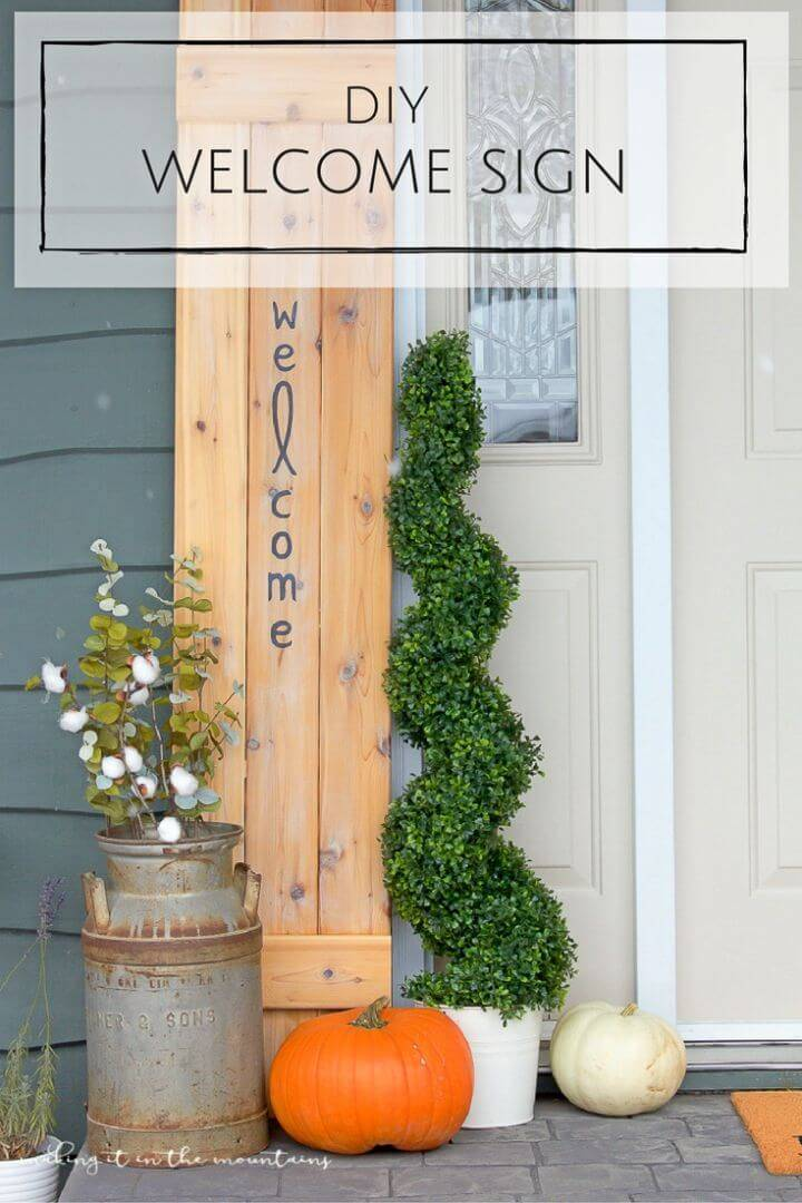 How to Make Rustic Welcome Sign