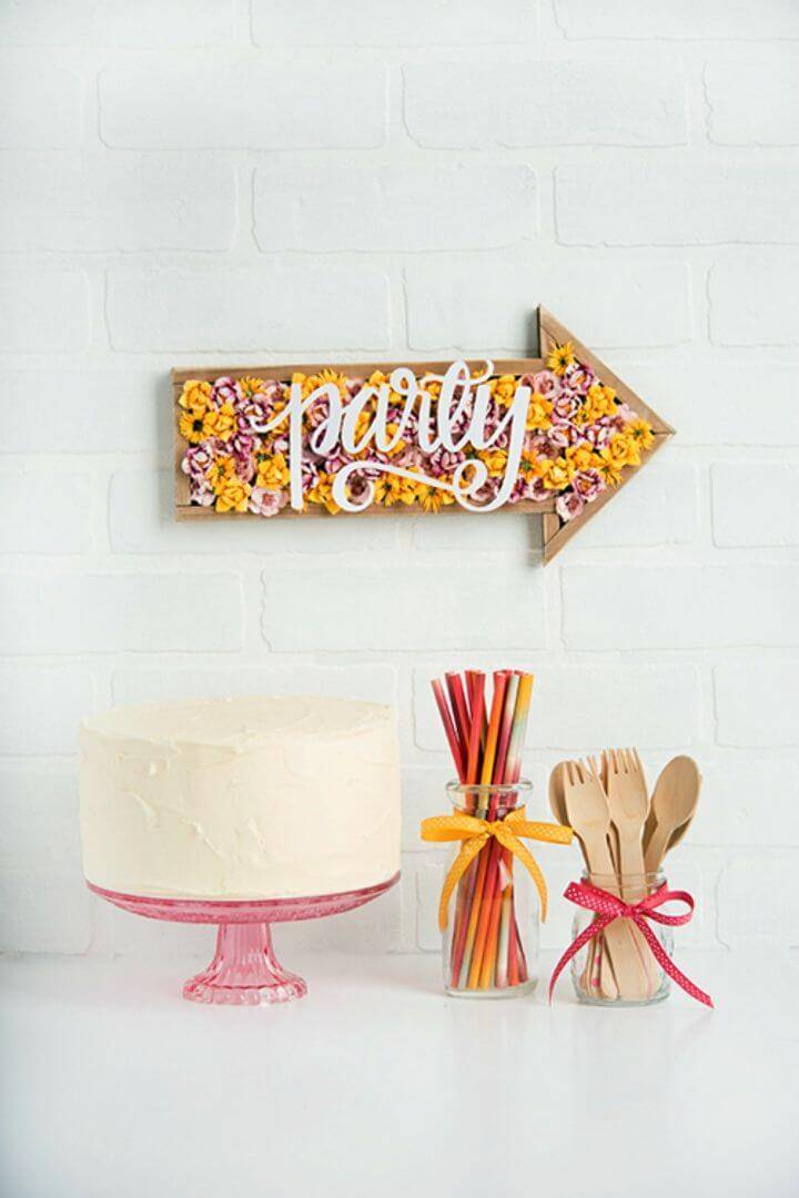 How to Make Spring Party Sign, it would be great idea to give directions to guests by making wood arrow signs for spring!