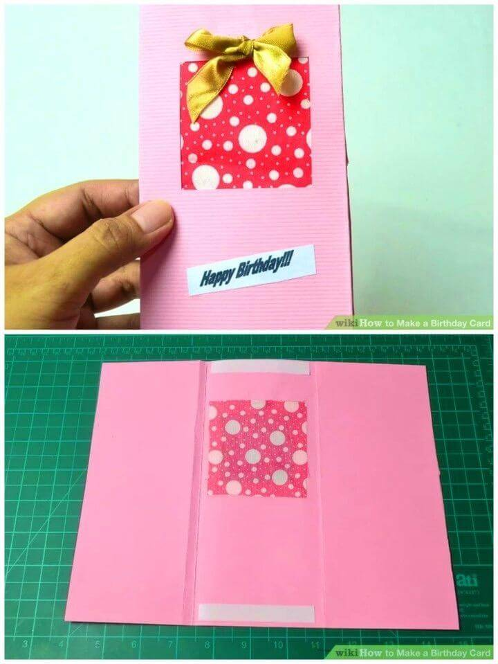 How to Make a Birthday Card, easy to make birthday card