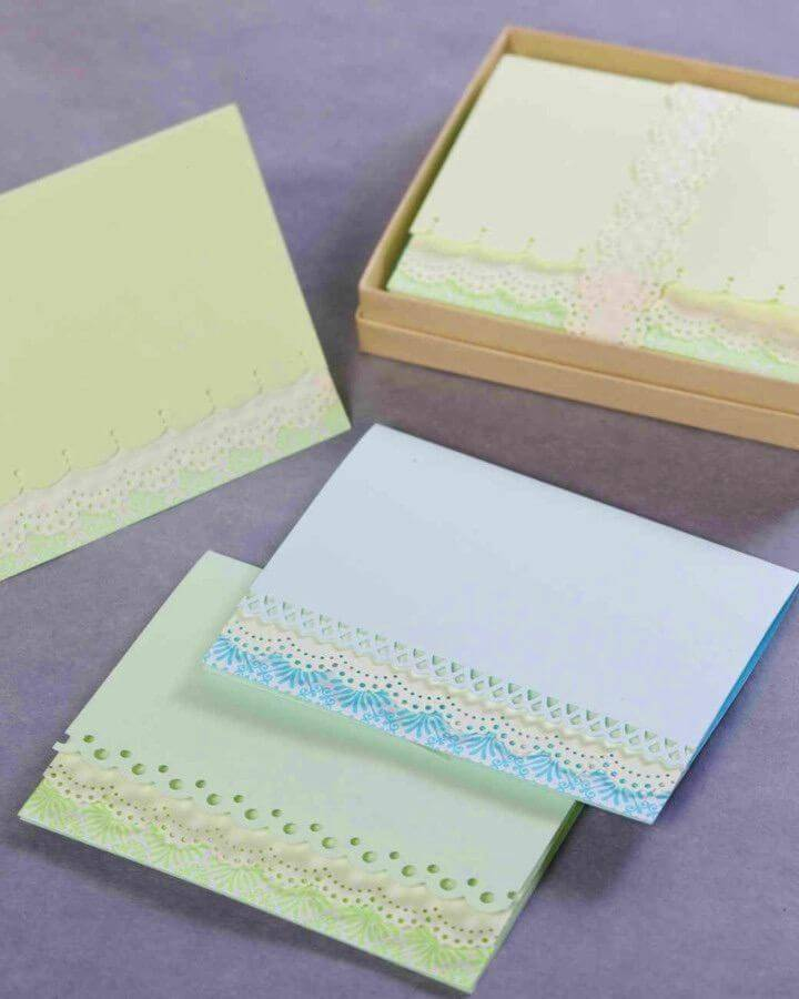 How to Make a Lovely Edge-punched Card, DIY Birthday Card How-to Instructions