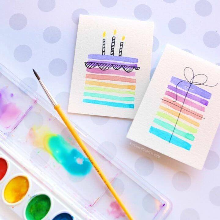 Make Birthday Cards Using Minimal Supplies, Budget-Friendly Birthday Card Idea
