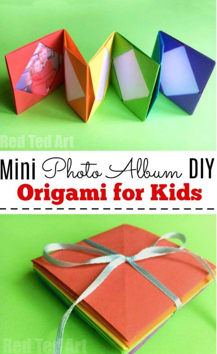 Make Mini Origami Photo Album