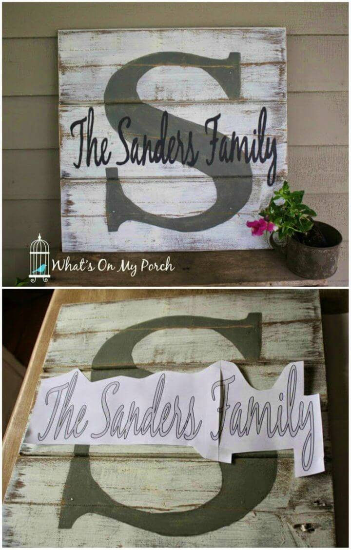 Make Monogram Pallet Family Name Sign, it would be a great idea to create a personal statement to a place using this monogram pallet family name sign!