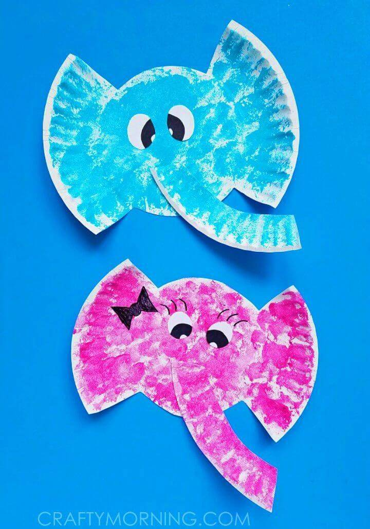 Make Paper Plate Elephant Kids Craft that will be ready in a few easy steps