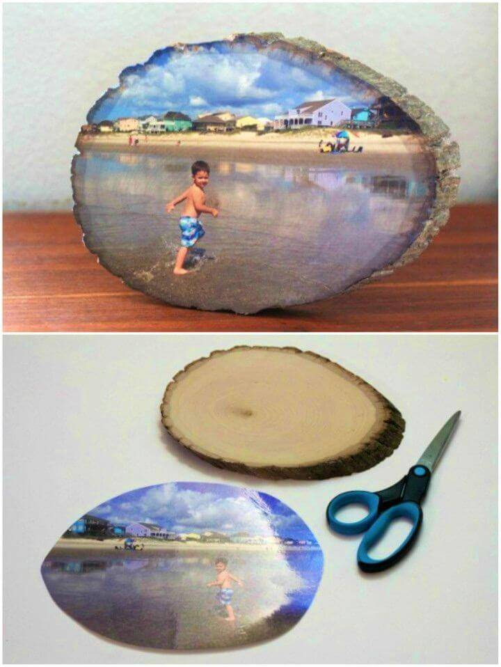 Make Wood Slice Photo Transfer, use the custom photo transfer techniques and transfer your photos on wood slices to make interesting photo gifts!