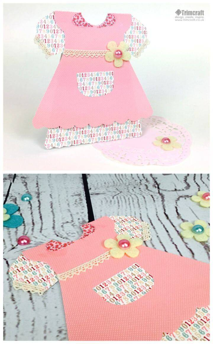 Make a Baby Girl Dress Birthday Card, Homemade birthday cards for girls