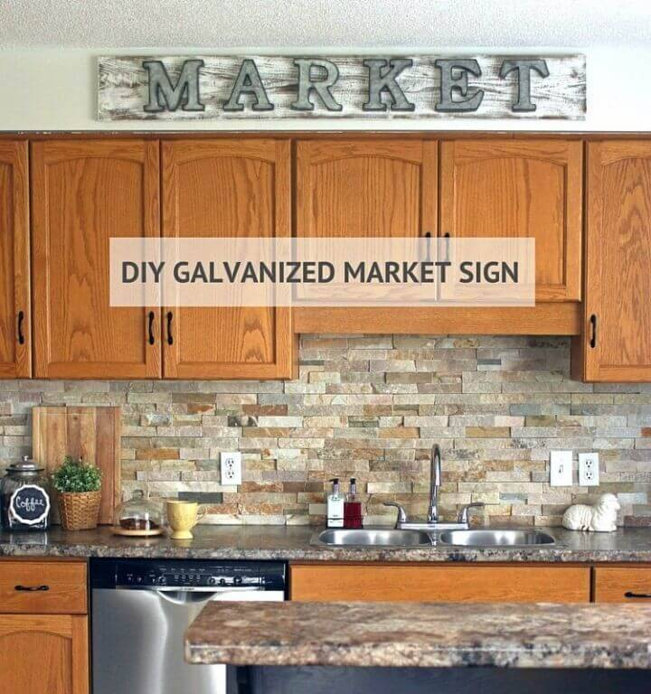 Make a Galvanized Market Sign, rock your kitchens and shops by making the galvanized name plates and market signs!