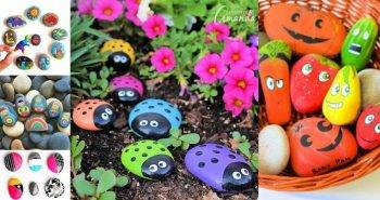 90 Easy Rock Painting Ideas for beginners, painted rocks