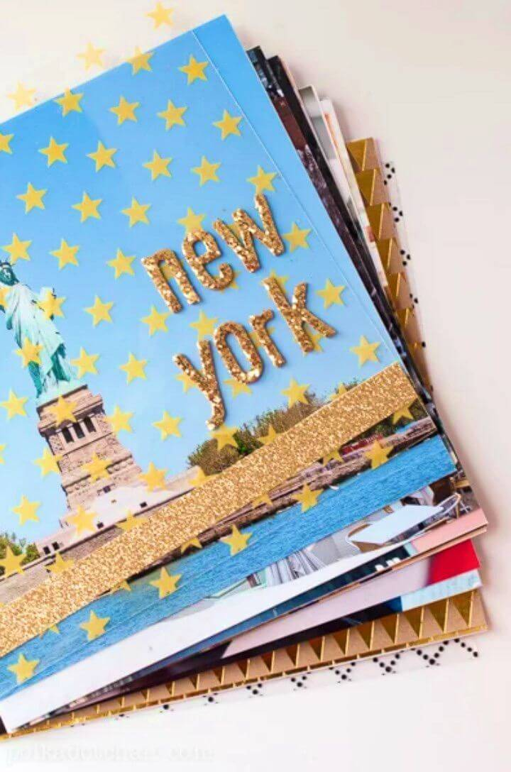 Pretty DIY Travel Photo Album, if you are willing to save your travel photos and memories then making a travel photo album would be a great idea!