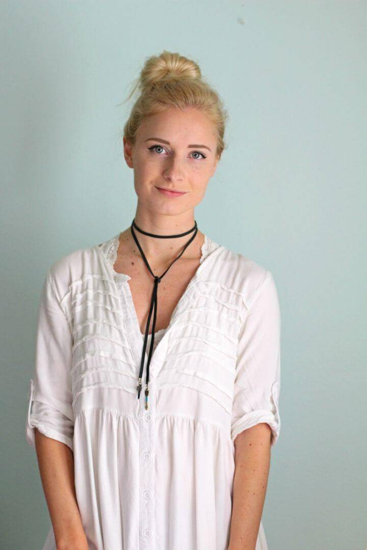 Quick DIY Boho Choker Necklace, wear a great style by wearing this handmade choker necklace, will bring a bohemian fashion touch to your personality!