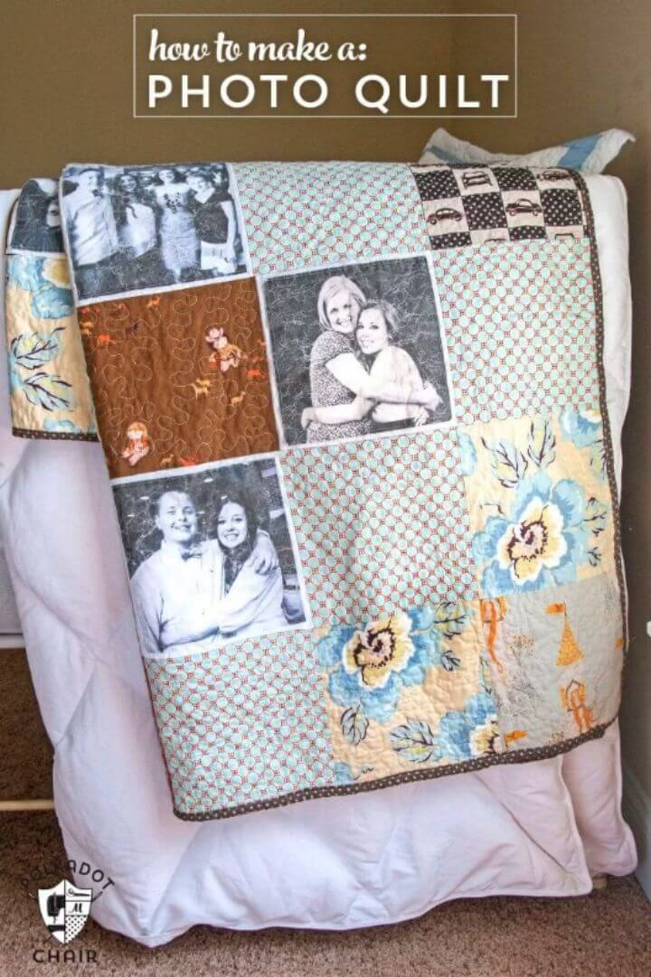 Quick DIY Photo Quilt Gift, also Paste your photos on the quilts and make interesting photo quilt gifts!