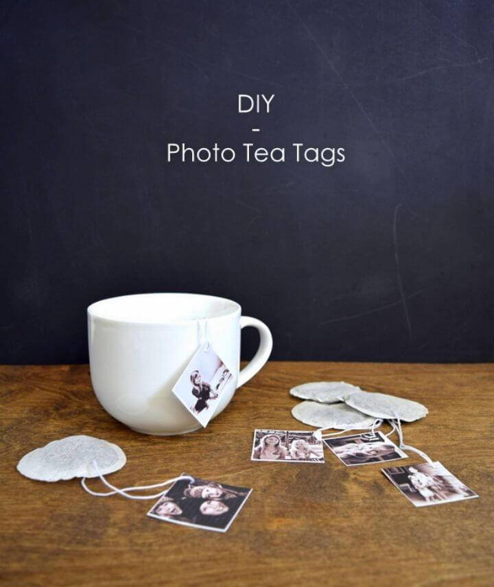 Quick DIY Photo Tea Tags, make the photo tea tags that will make a great photography gift for the tea lovers!