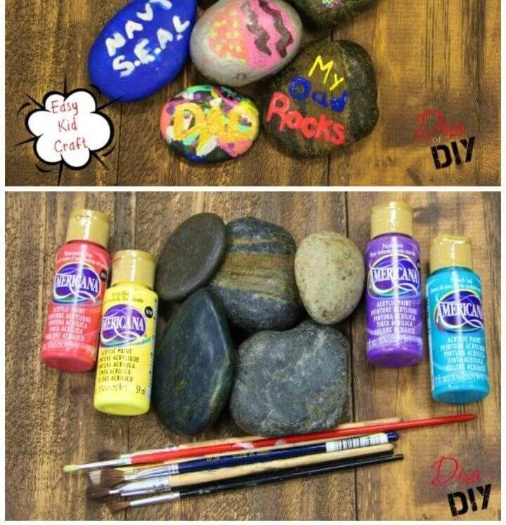 Quick and Easy DIY Paint Rock Crafts, simple rock painting ideas