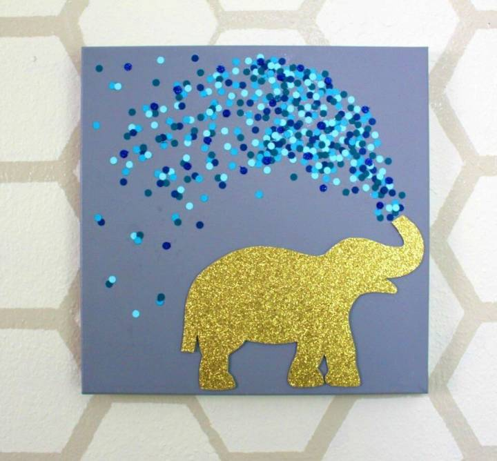 Quick to Make Elephant Canvas Art for your interior wall decors, without getting expensive!
