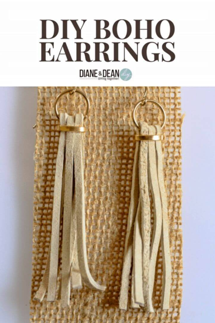 Simple DIY Boho Style Earrings