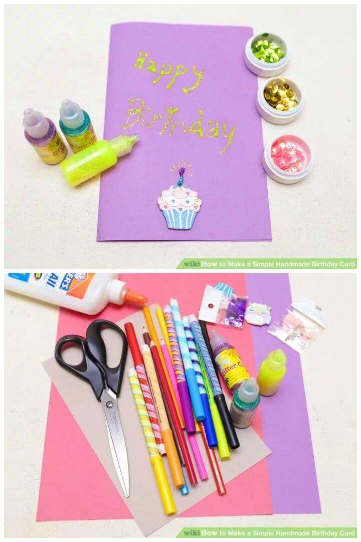 Simple DIY Handmade Birthday Card, easy to make birthday card idea
