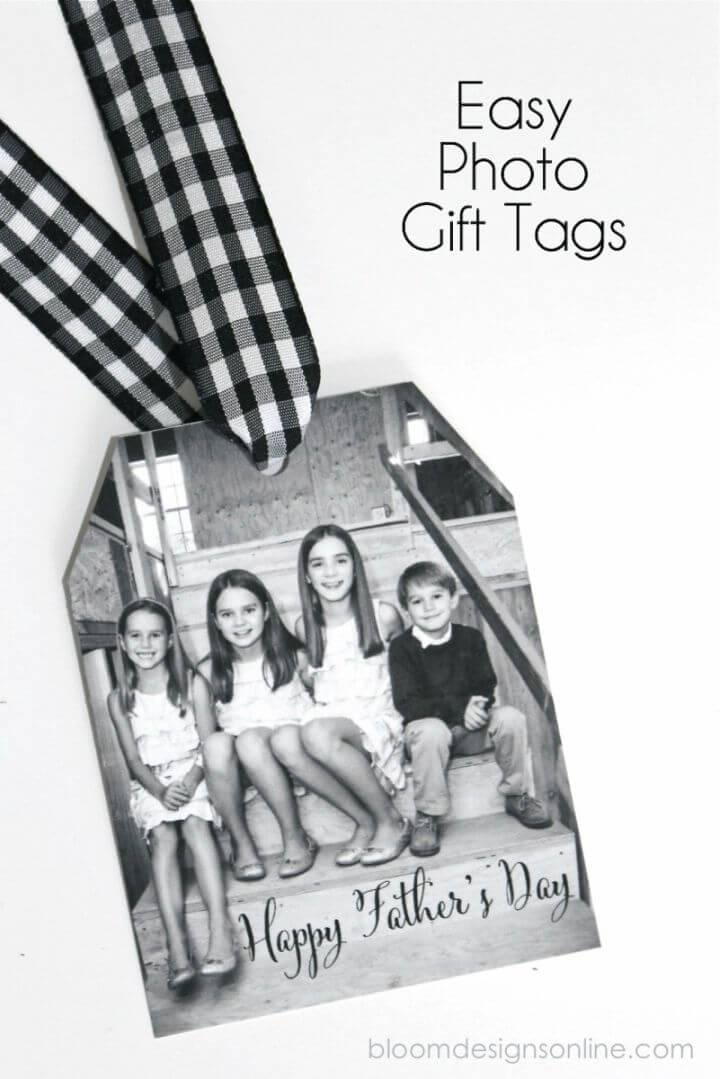 Simple DIY Photo Gift Tags