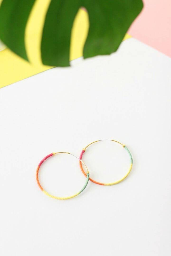 Simple DIY Rainbow Earring that will also make great bohemian jewelry