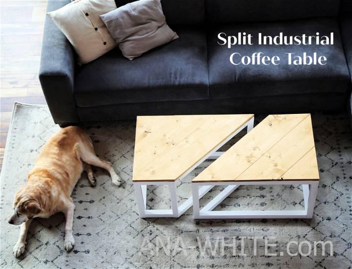 Split Industrial Coffee Table