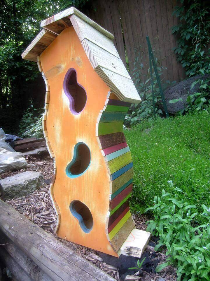 Wooden Pallet Birdhouse Ideas ⋆ Diy Crafts