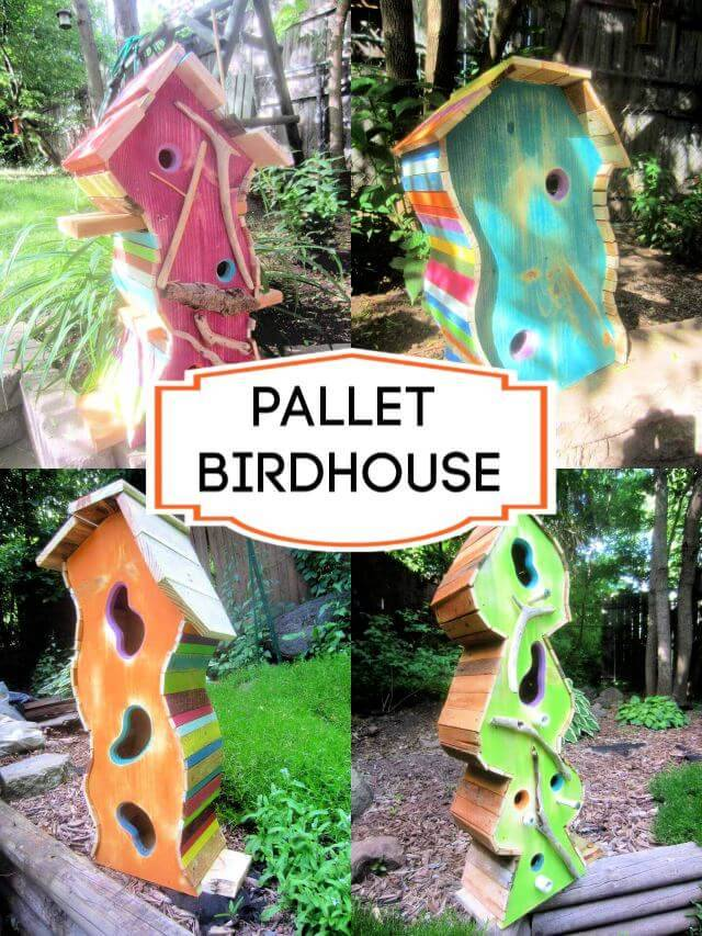 pallet birdhouse, How to Build a Birdhouse From Pallets - DIY