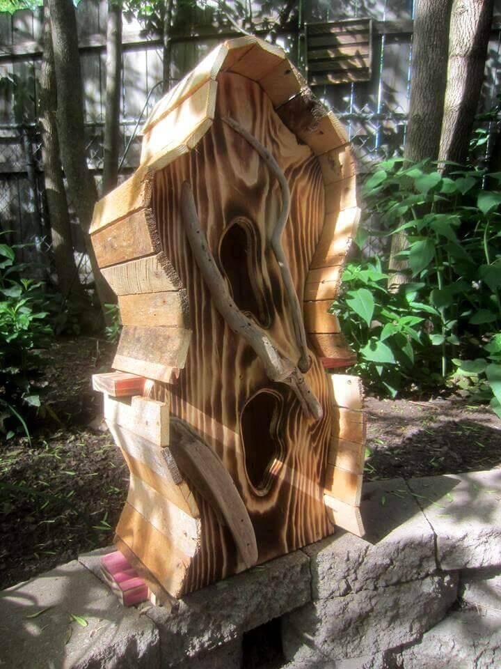 pallet made bird house