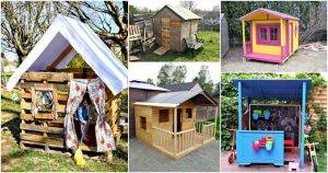 7 DIY Pallet Playhouse Plans for Your Kids