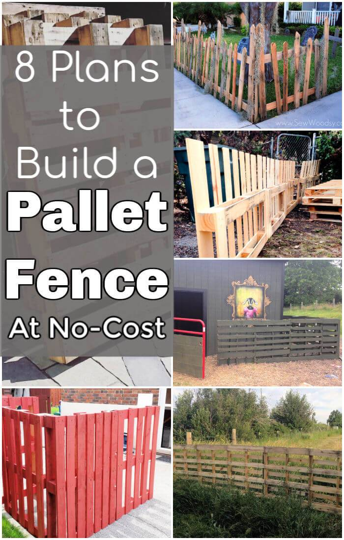 8 Plans to Build a Pallet Fence at No Cost
