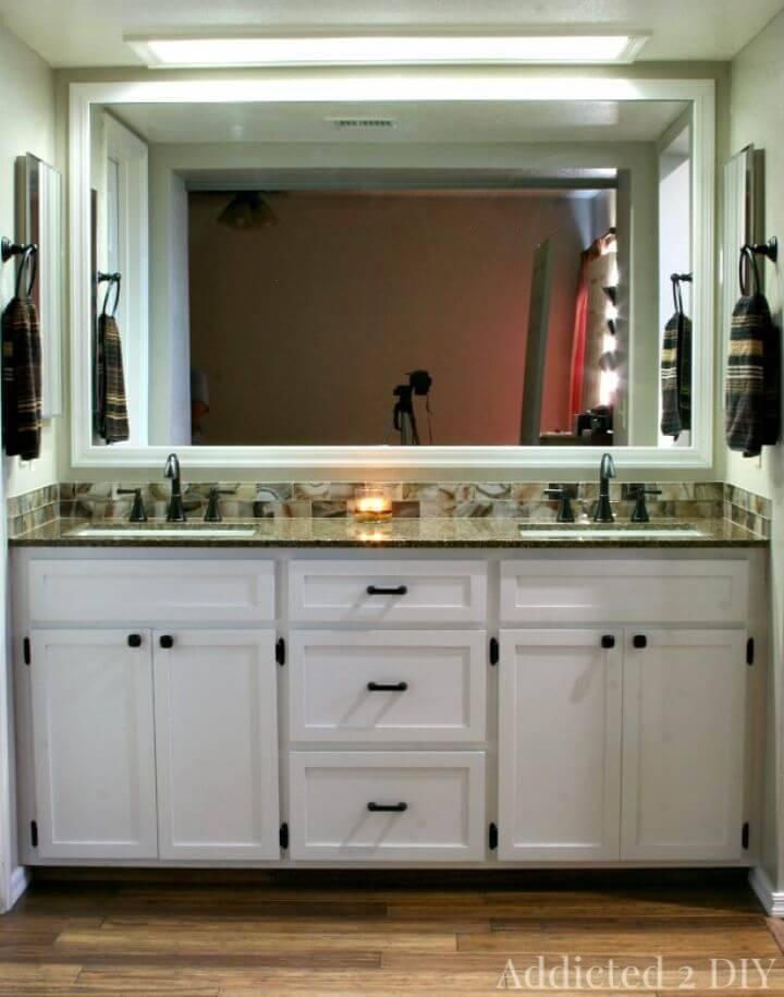 Adorable DIY Double Bathroom Vanity