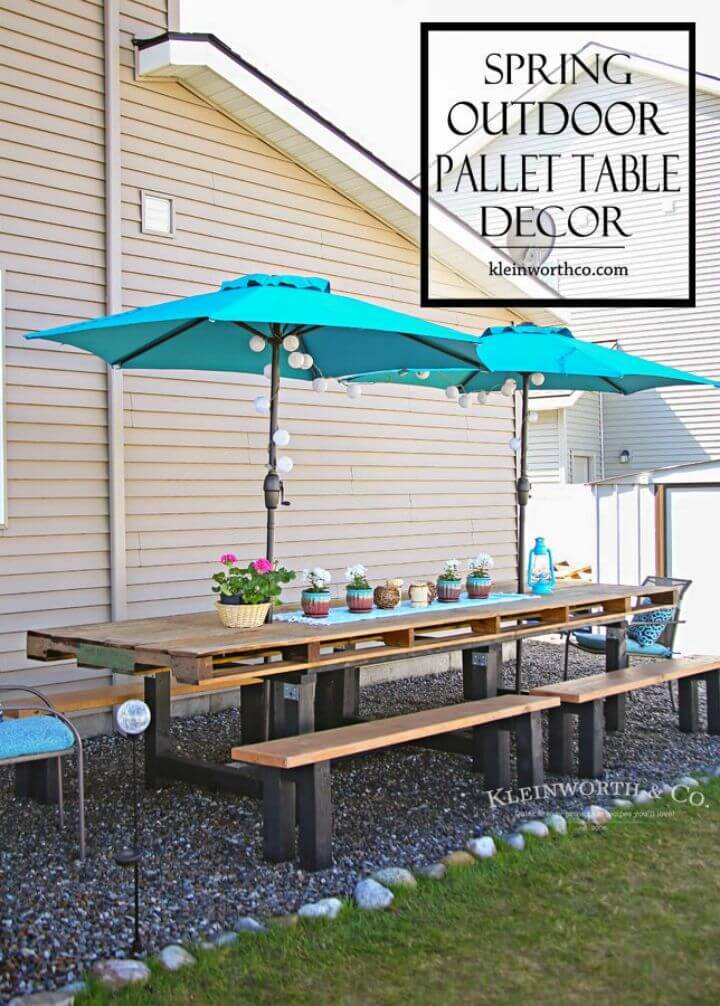 Adorable DIY Pallet Outdoor Dining Table