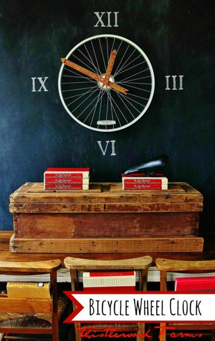 Amazing DIY Bicycle Wheel Clock
