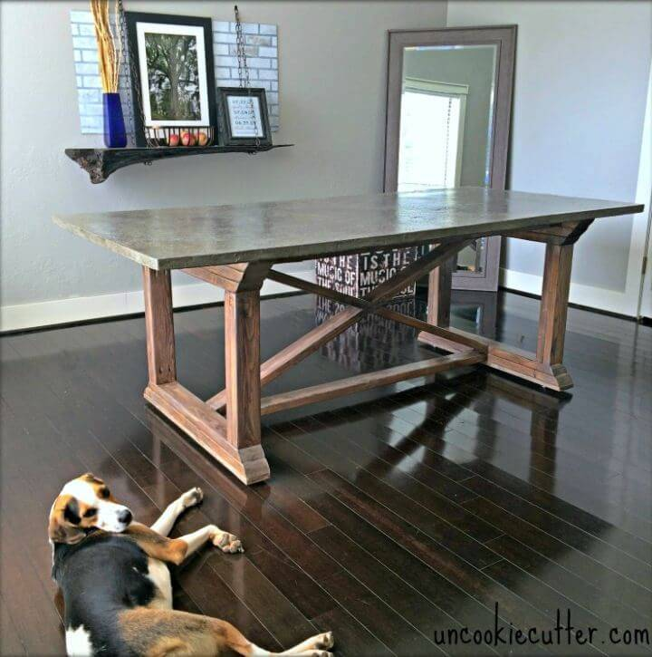 Amazing DIY Concrete Dining Table