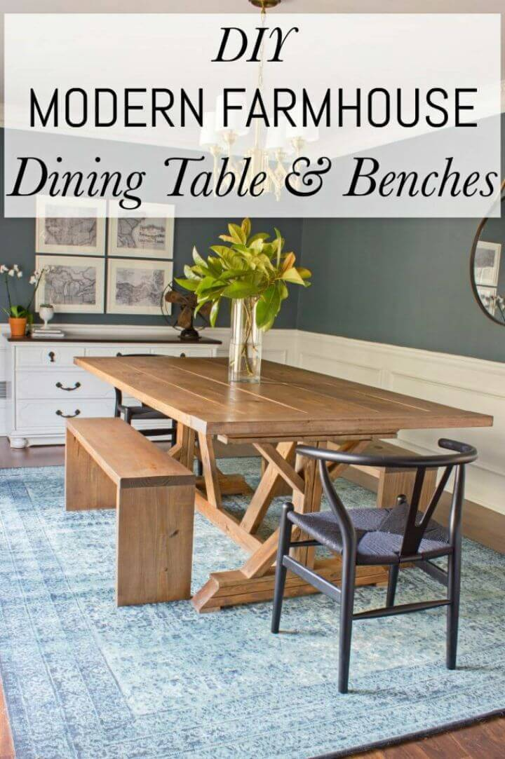 Awesome DIY Farmhouse Dining Table