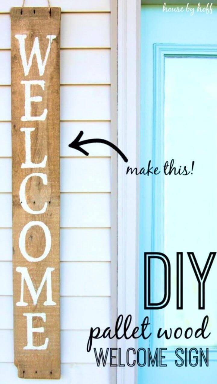 Best DIY Front Door Pallet Wood Sign