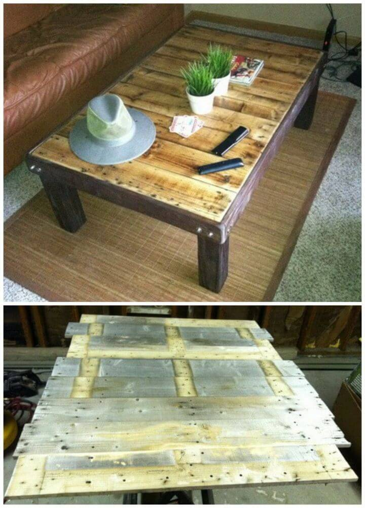 Build Coffee Table Out Of a Wooden Pallet