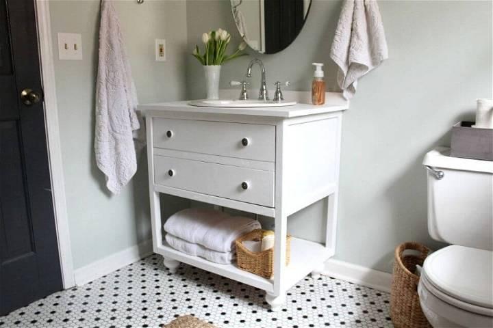 Build Vintage Style Bathroom Vanity