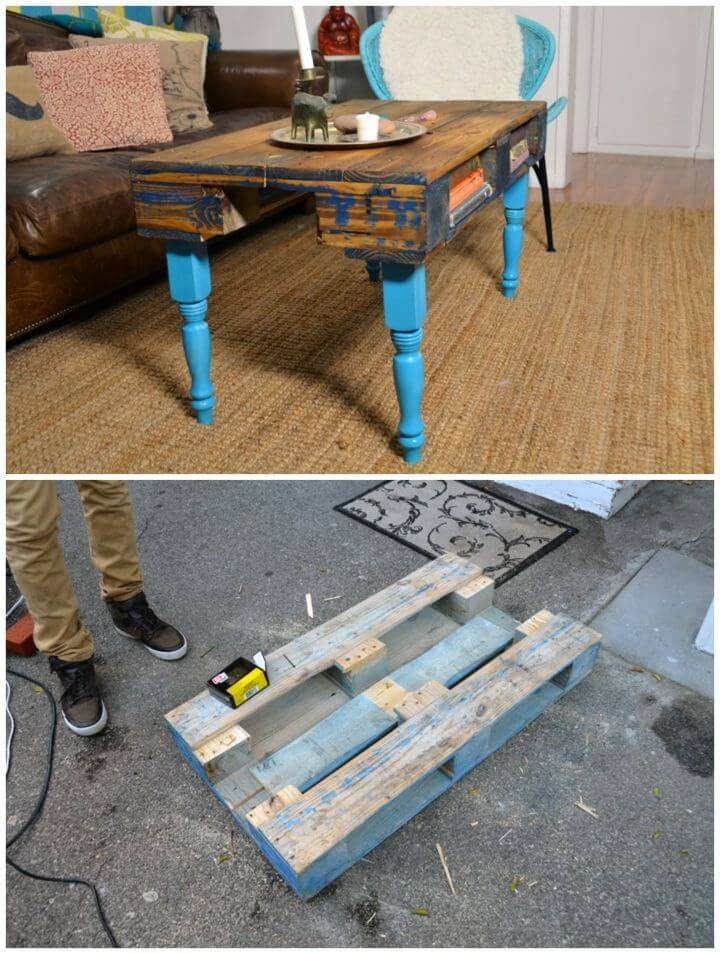 Build Wood Pallet Coffee Table