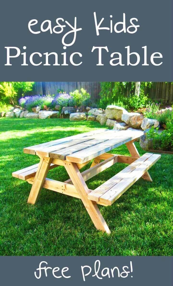 Build a Bigger Kids Picnic Table