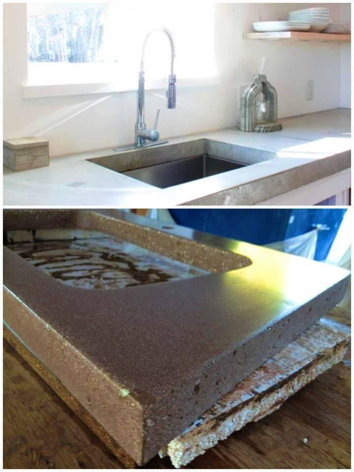Build a Classy Concrete Countertop