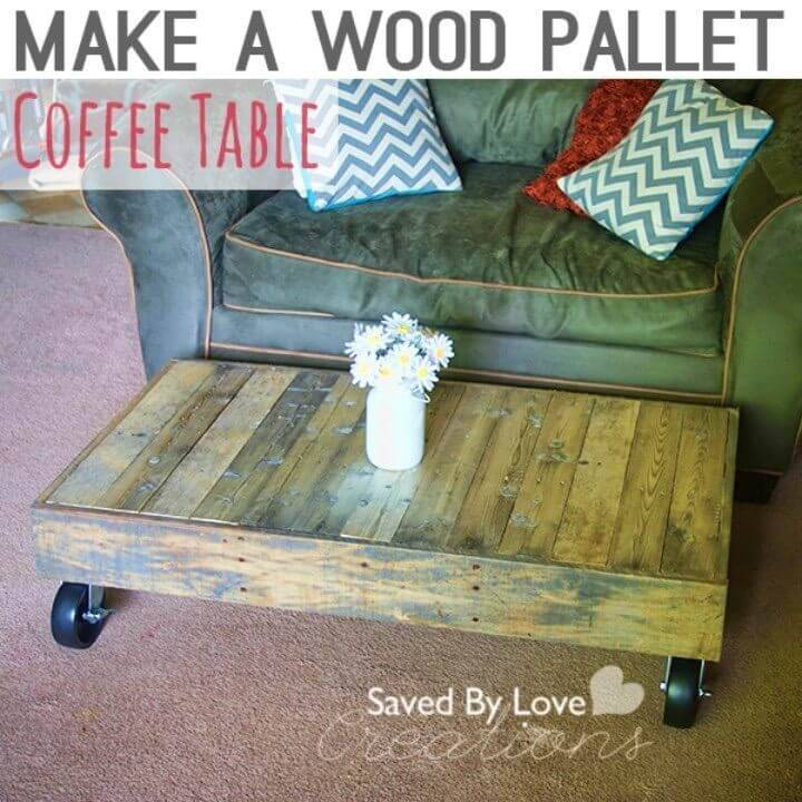 Build a Coffee Table from Shipping Pallet