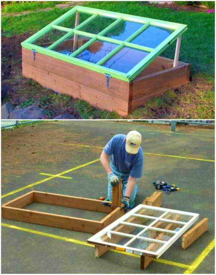 Build a Cold Frame Using Old Window
