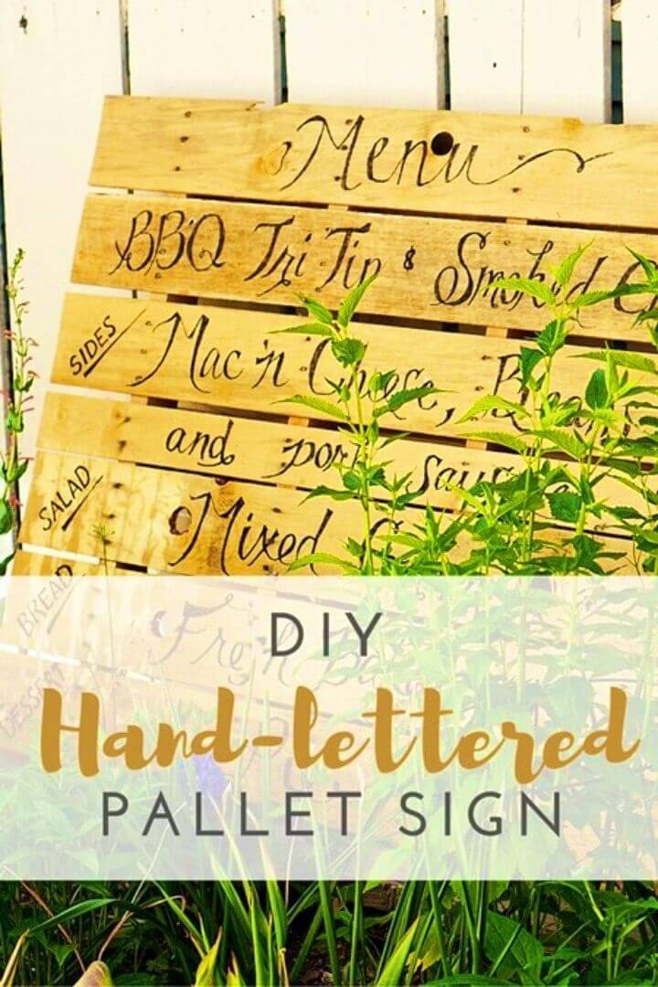 Build a Hand Lettered Pallet Sign