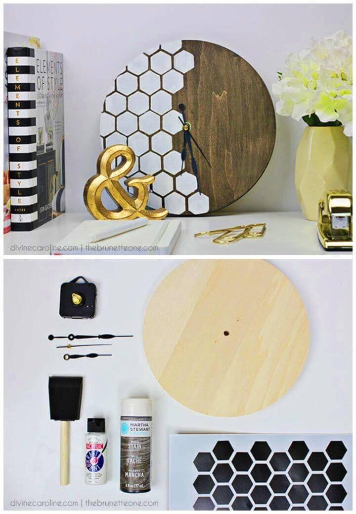 Build a Honeycomb Wall Clock