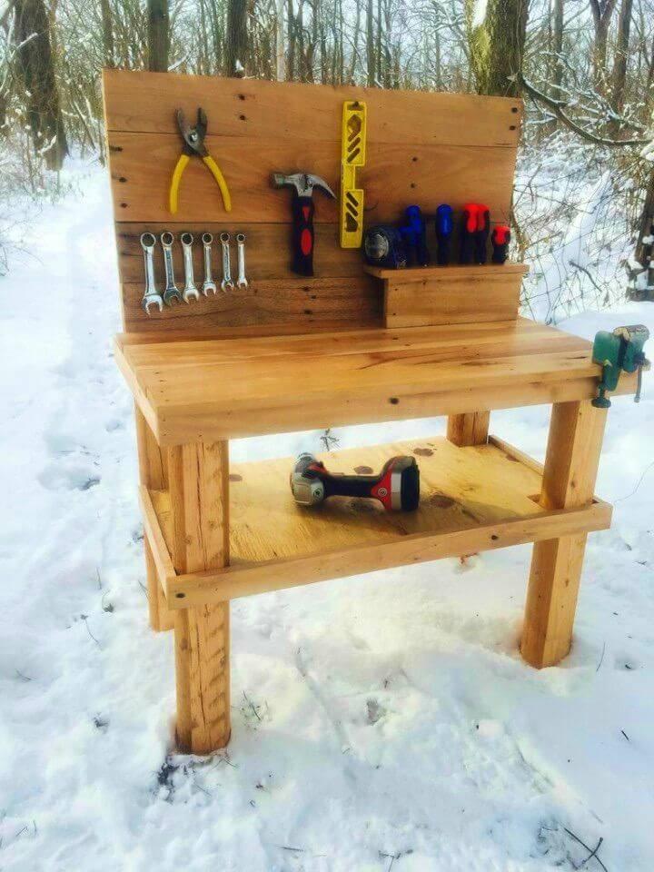 Build a Kids Pallet Workbench