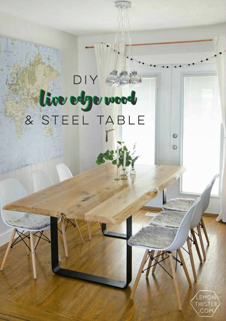Build a Live Edge Table With Steel Base
