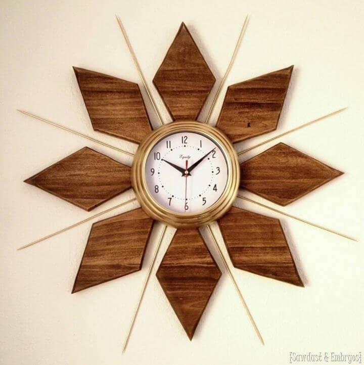 Build a Mid century Modern Esque Starburst Clock