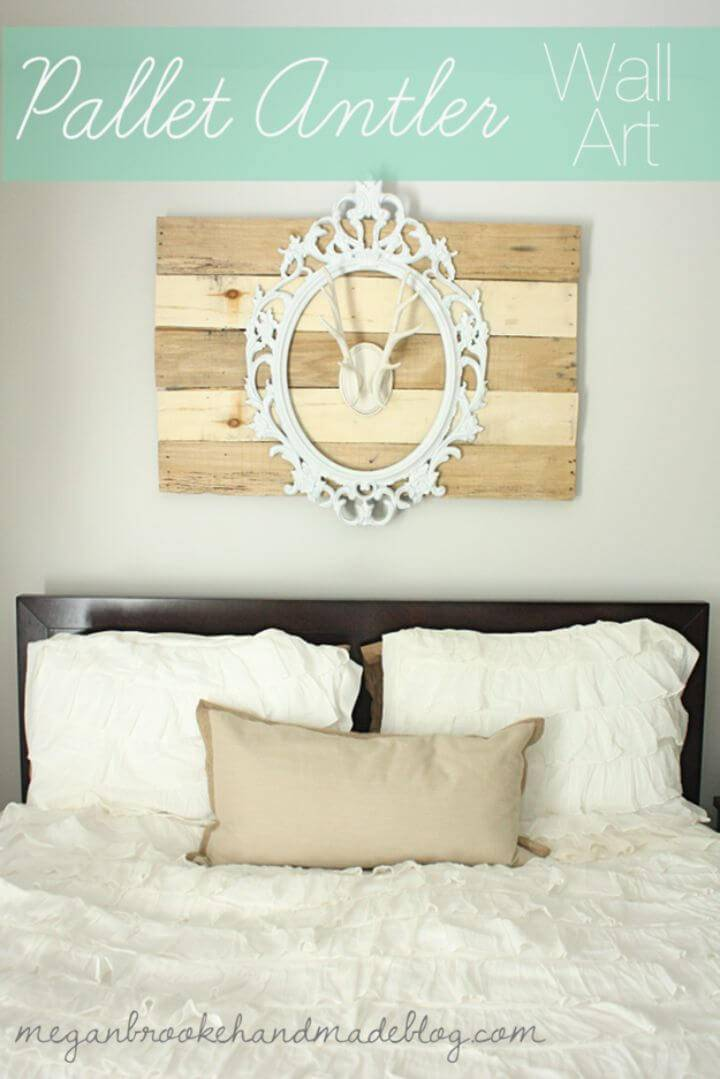 Build a Pallet Antler Wall Art Sign